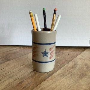 Americana Rustic Patriotic Pen and Pencil Holder
